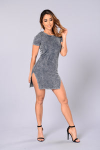 Mindy Dress - Charcoal