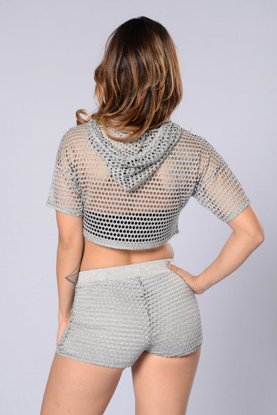 Aimless Crop Top - Heather Grey