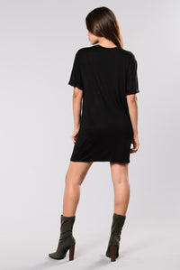 Hold On For Life Dress - Black
