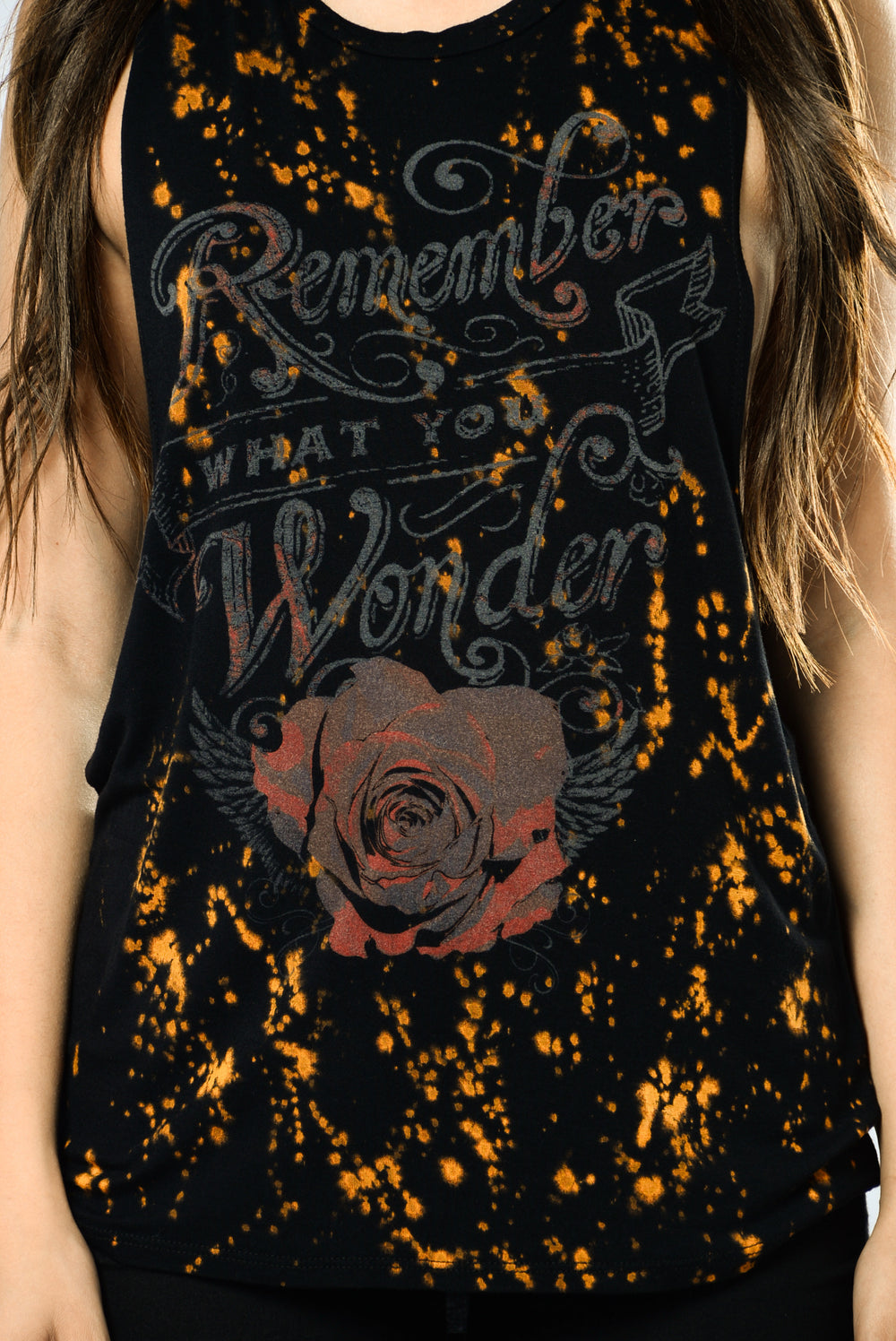 Remember What You Wonder Tank Top - Black