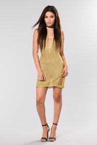 Better Things Dress - Gold