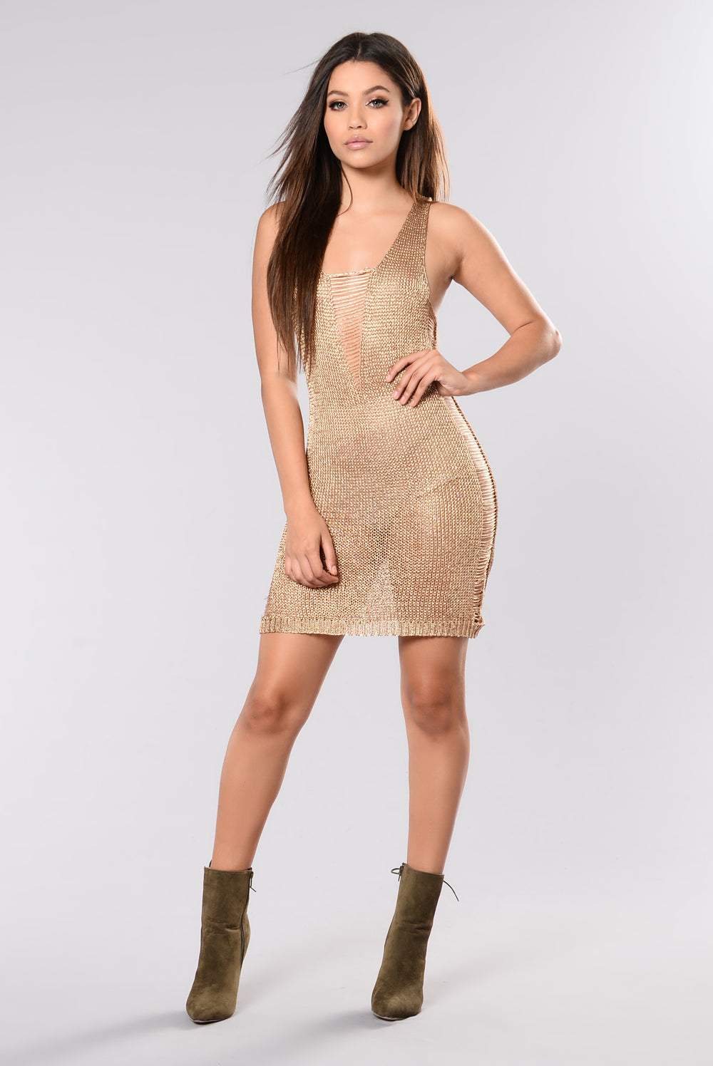 Better Things Dress - Rose Gold