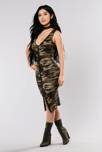 Toy Soldier Dress - Camo