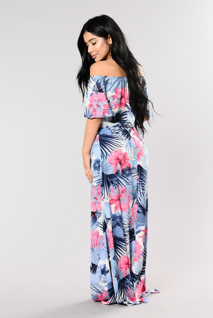 Tropicana Dress - Blue