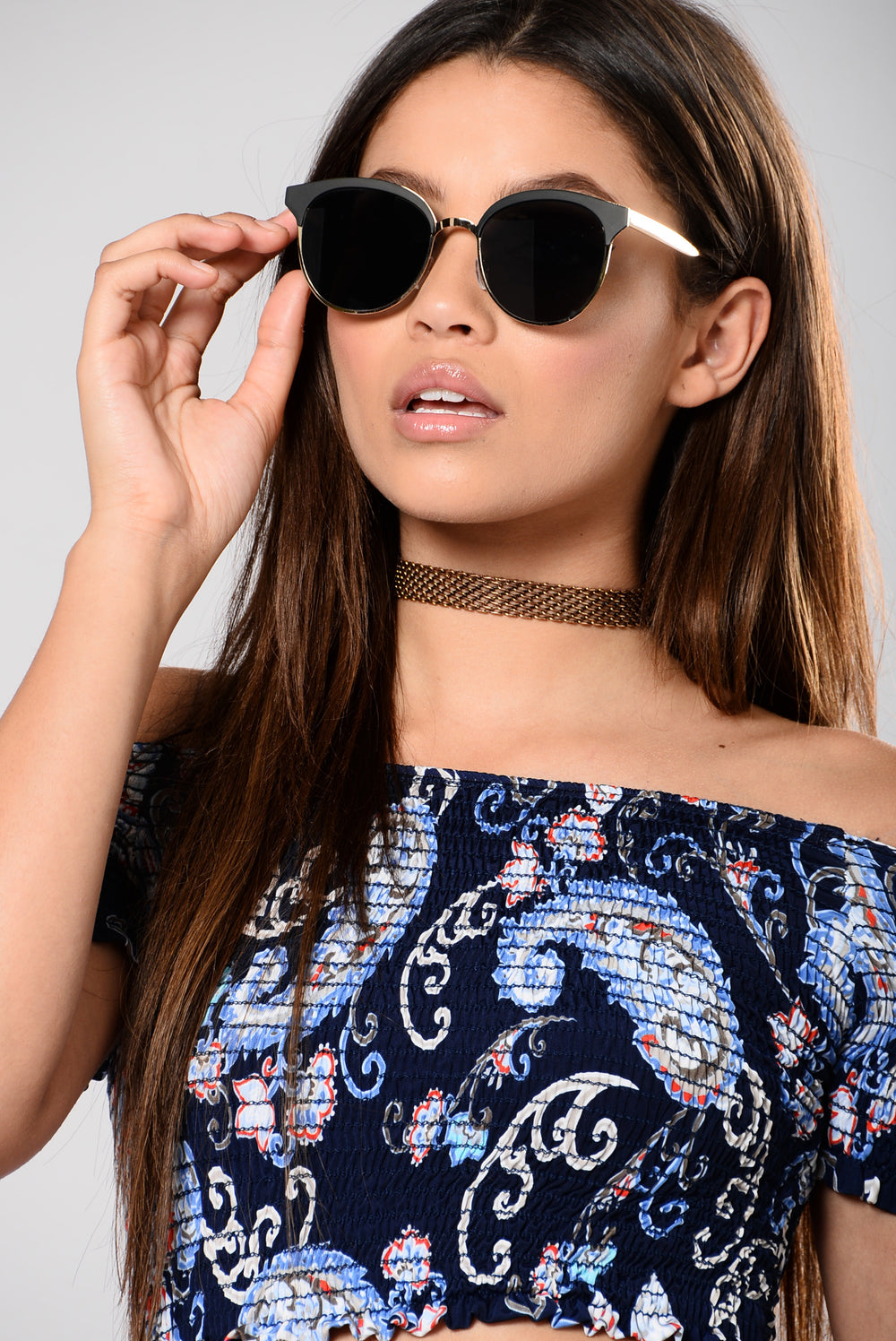 Corinne Sunglasses - Black/Black