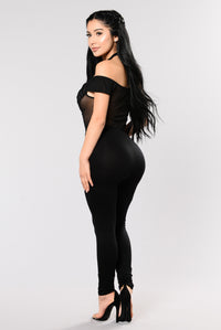 Rule My World Jumpsuit - Black