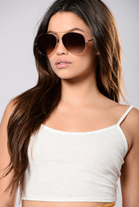 Boulevard Pool Sunglasses - Gold/Smoke