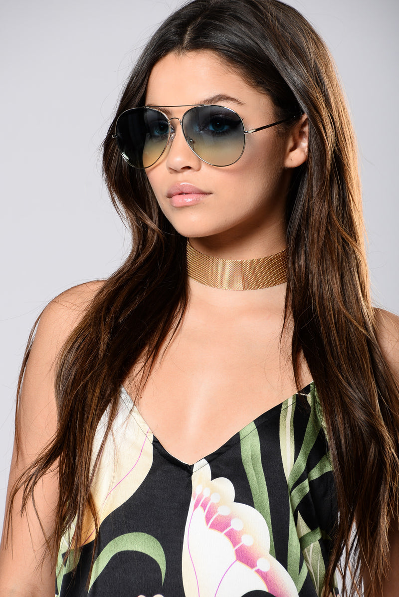 Boulevard Pool Sunglasses - Silver/Blue