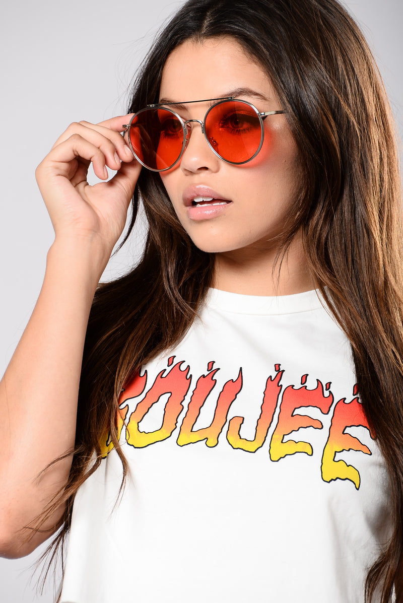 Dayclub Sunglasses - Silver/Red