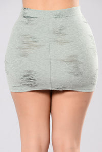 Running Through My Thoughts Skirt - Olive