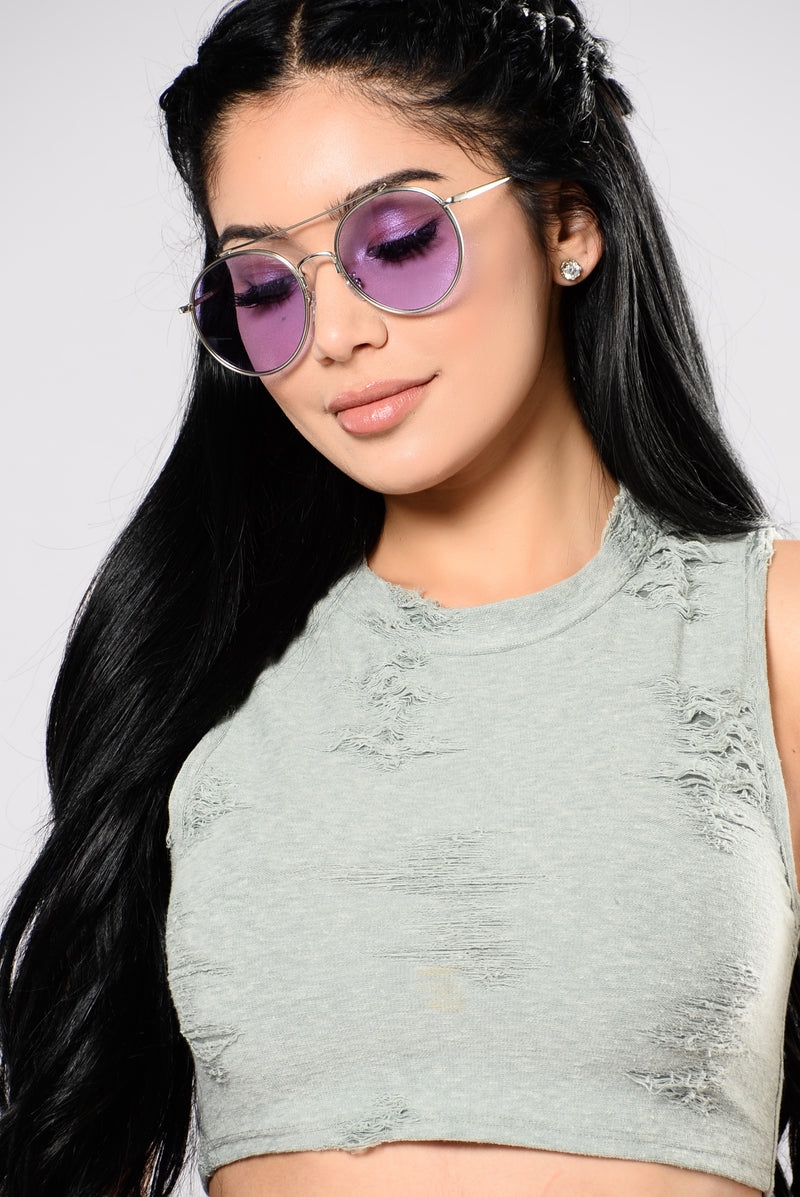 Dayclub Sunglasses - Silver/Purple