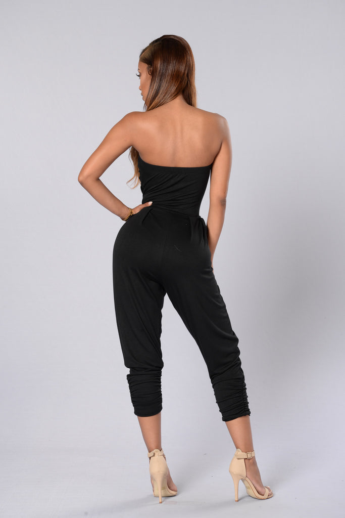 I Got You Babe Jumpsuit - Black