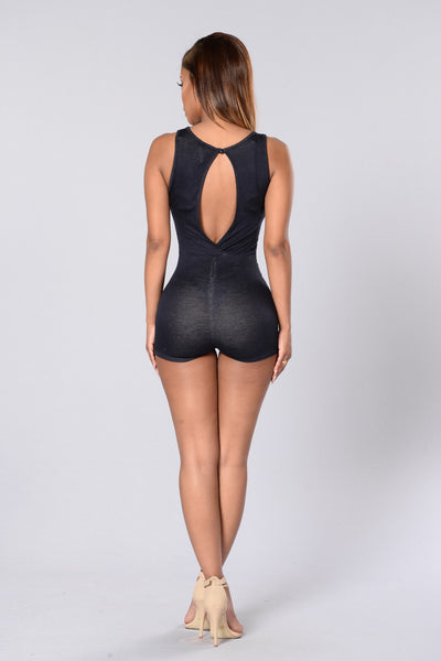 Dare You Romper - Denim