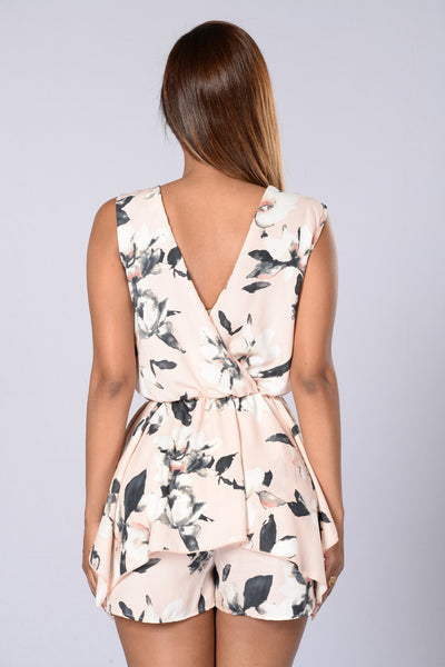 Pep Talk Romper - Blush