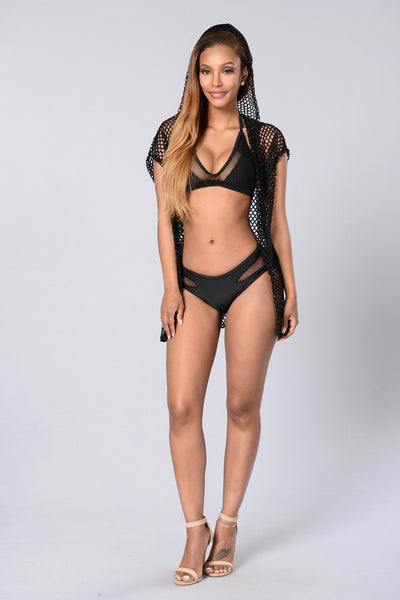 Hot Mesh Cover Up - Black