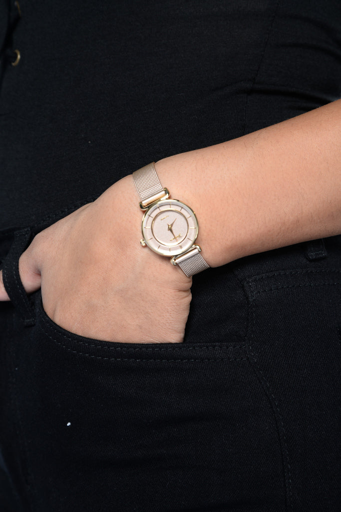 Never On Time Watch - Rose Gold