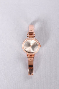 Right On Rhinestone Watch - Rose Gold