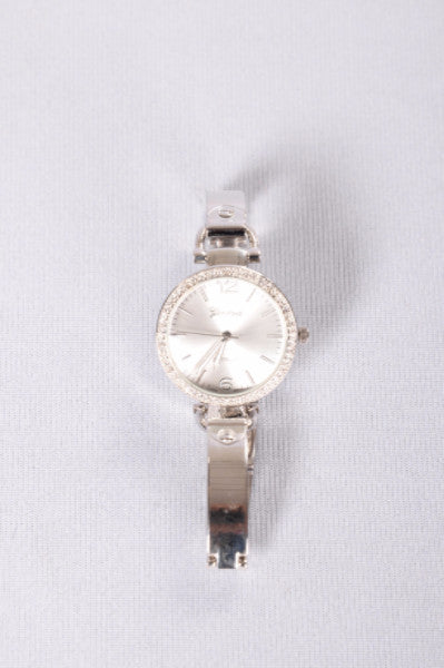 Right On Rhinestone Watch - Silver