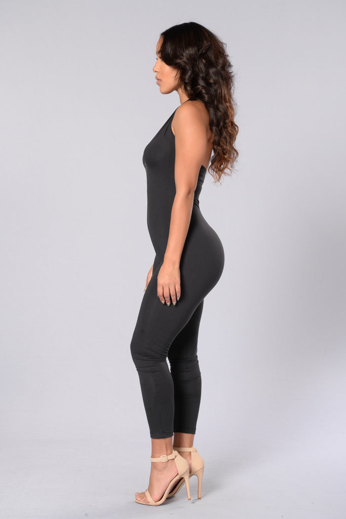 Zip Me Down Jumpsuit - Black
