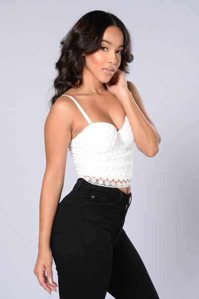 Crochet It Ain't So Bustier - White