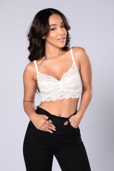 All For You Bralette - White