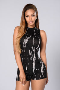 You Can't Tie Me Down Romper - Black Angle 1