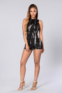 You Can't Tie Me Down Romper - Black Angle 4