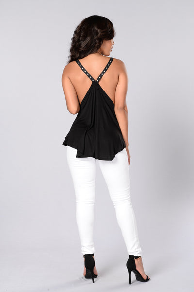Clean Track Record Tank - Black