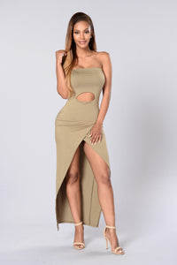 Hit or Miss Tube Dress - Olive Angle 1