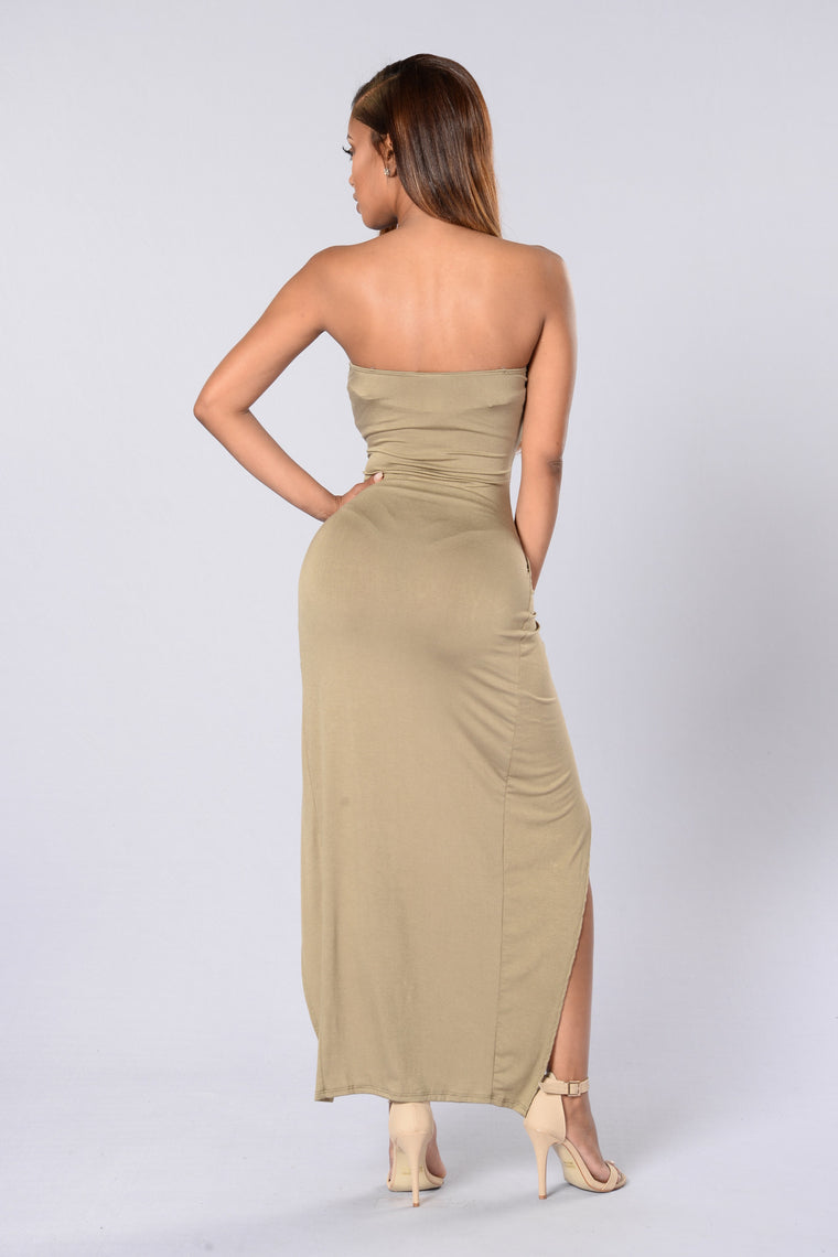 Hit or Miss Tube Dress - Olive