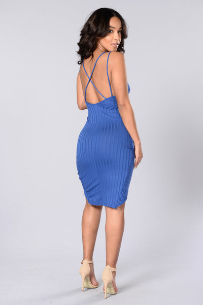 Ray of Sunshine Dress - Sapphire