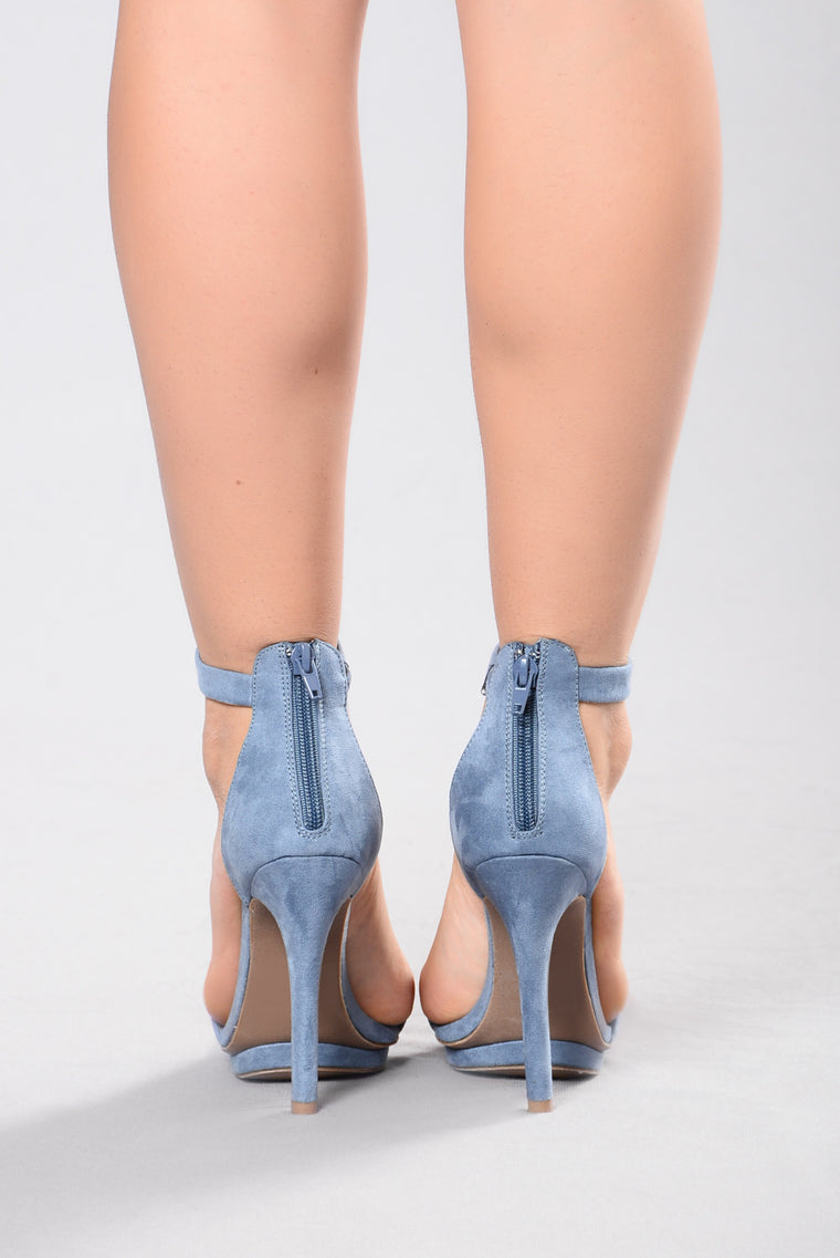 Step into Suede Heel - Blue