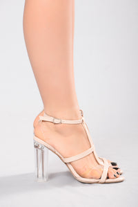 Almost Clear II Heel - Beige
