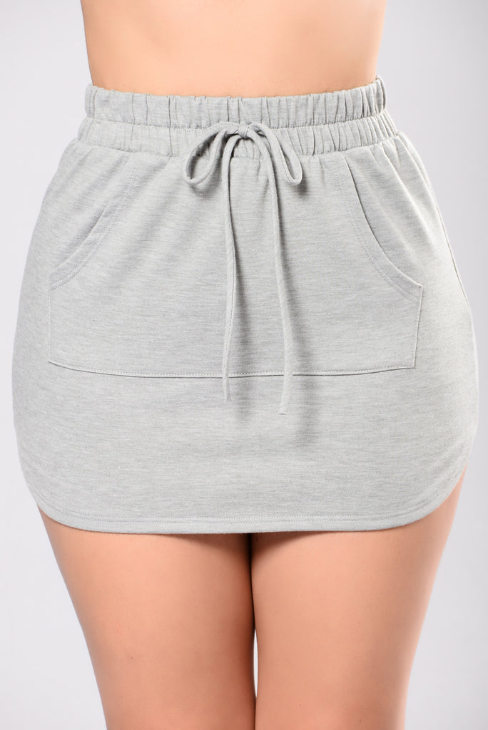 Tatiana Skirt - Heather Grey