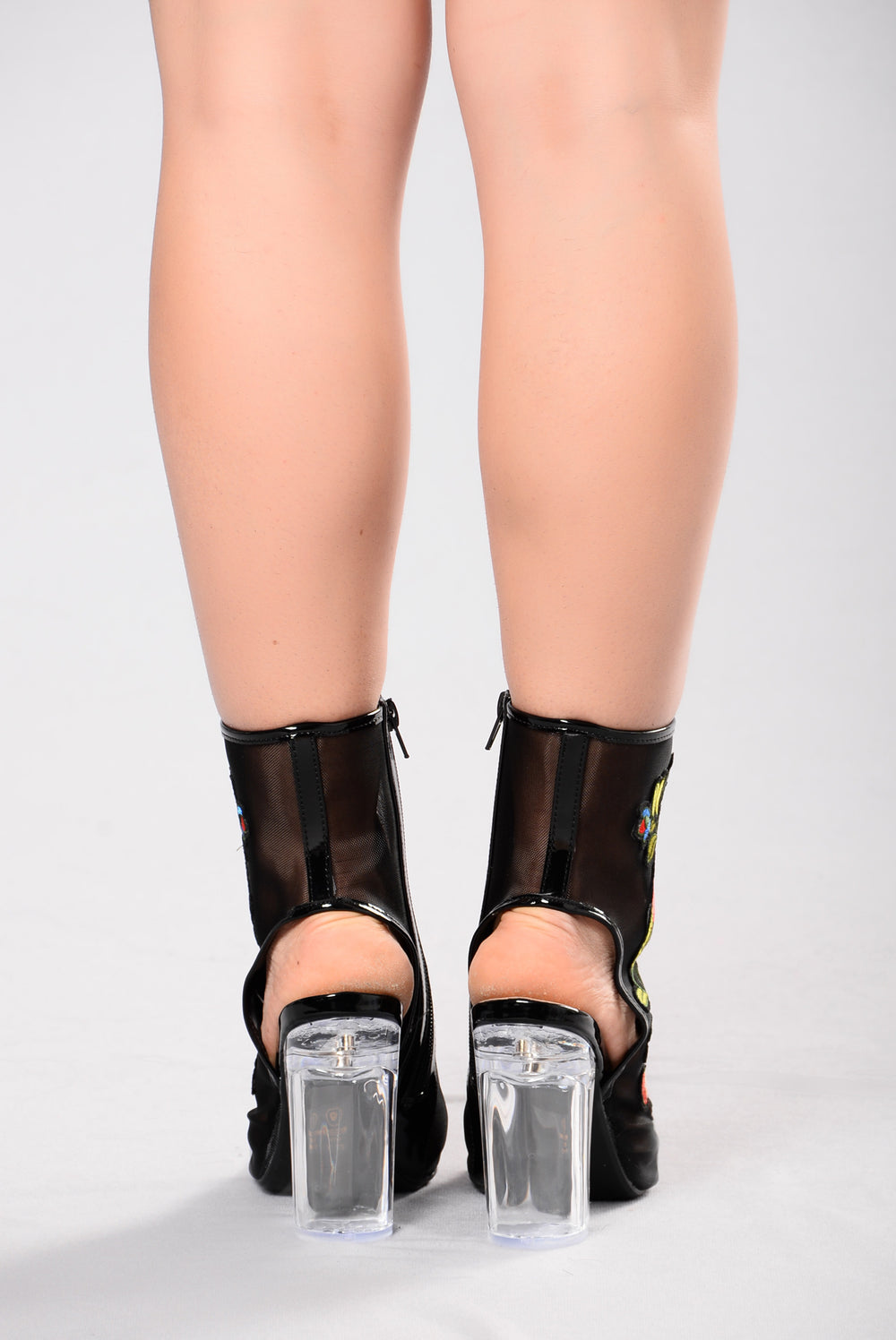 Garden Clear Heel - Black