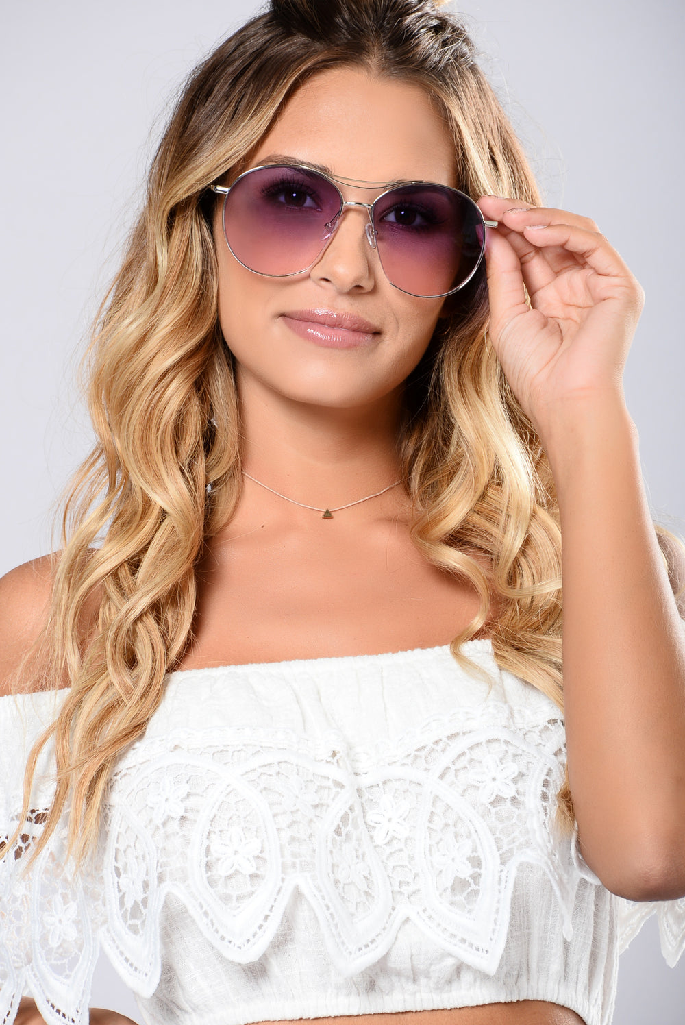 Azure Sunglasses - Silver/Purple