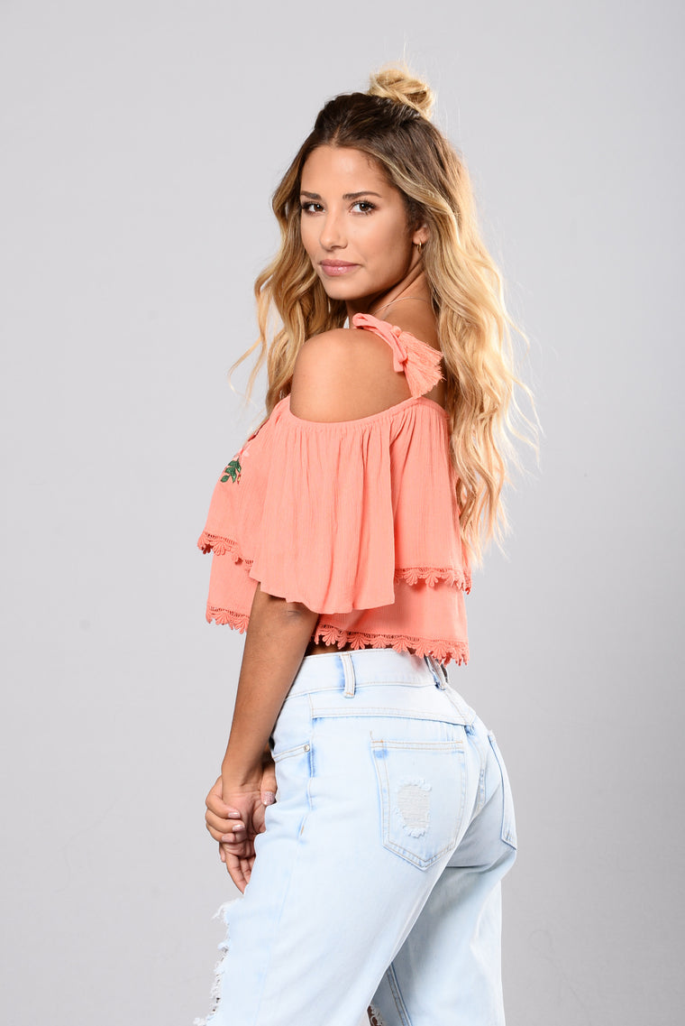 Melina Top - Coral