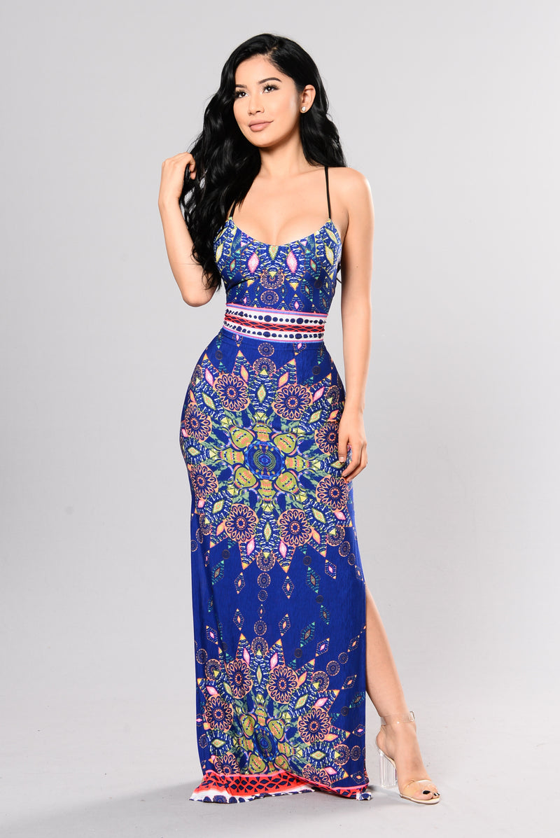 Welcome To The Party Dress - Navy