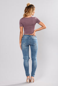 Beverly Skinny Jeans - Light Blue Angle 6