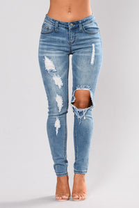 Beverly Skinny Jeans - Light Blue Angle 1