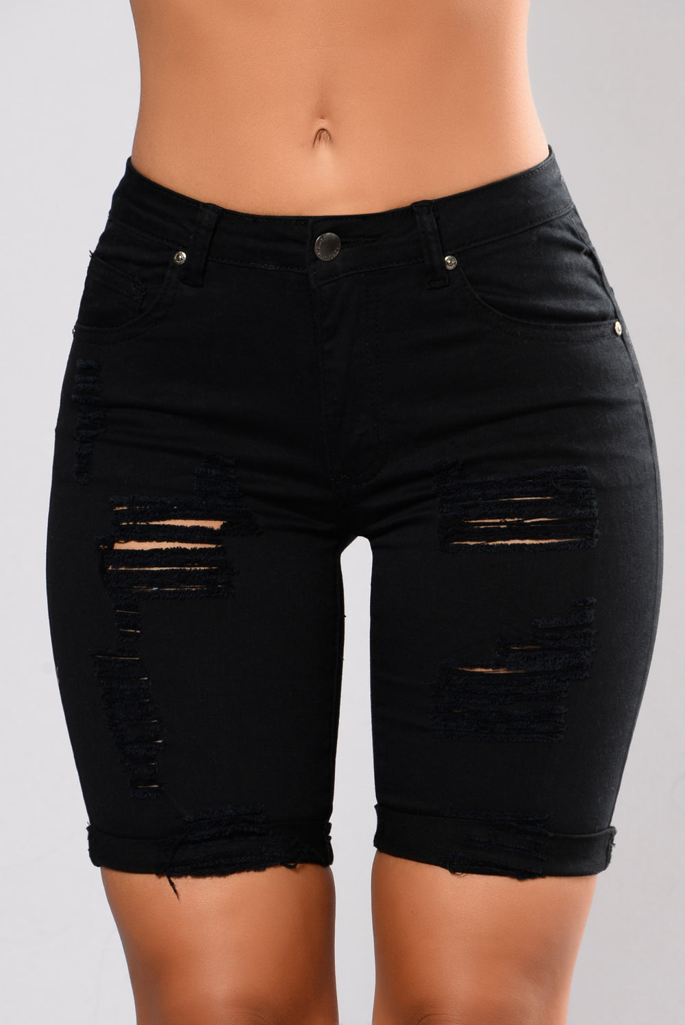 Black Distressed Shorts Png