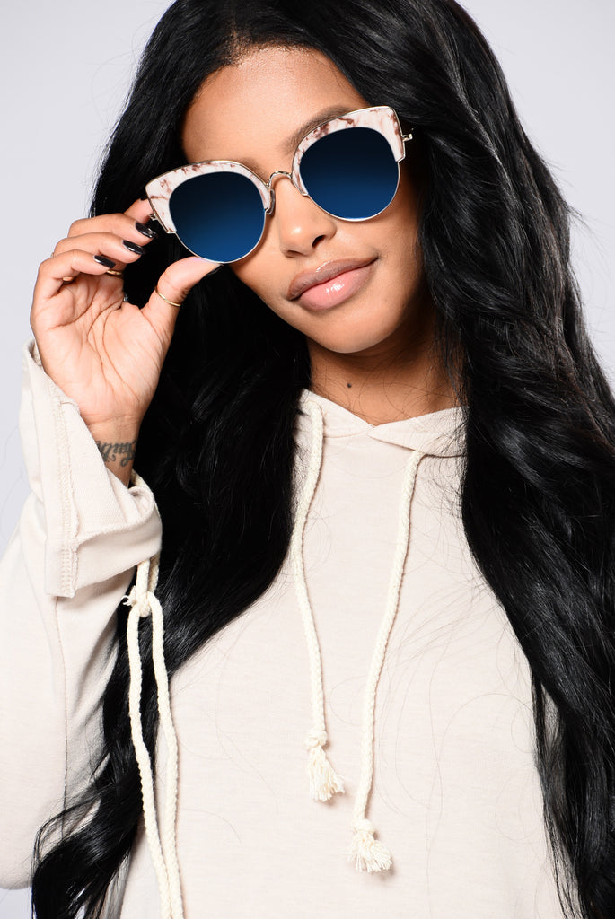 Rehab Sunglasses - Silver/Blue