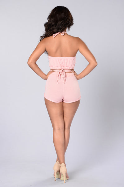 Not Your Babe Shorts - Blush