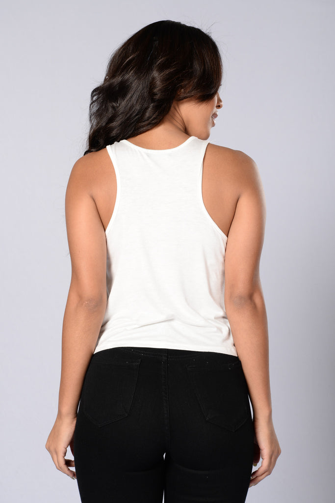 Rose All Day Tank - White