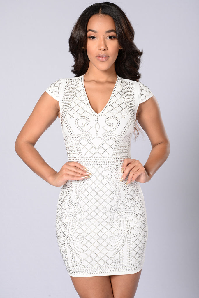 Modern Love Dress - White/Silver