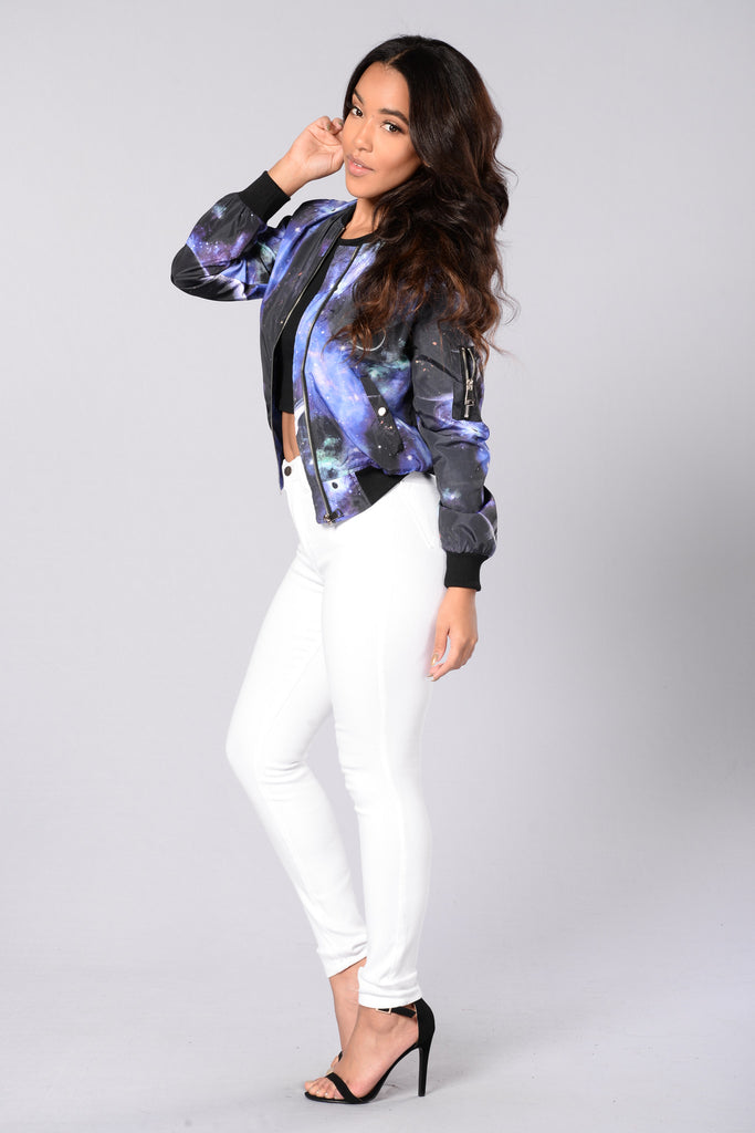 Out Of This World Bomber Jacket - Multi
