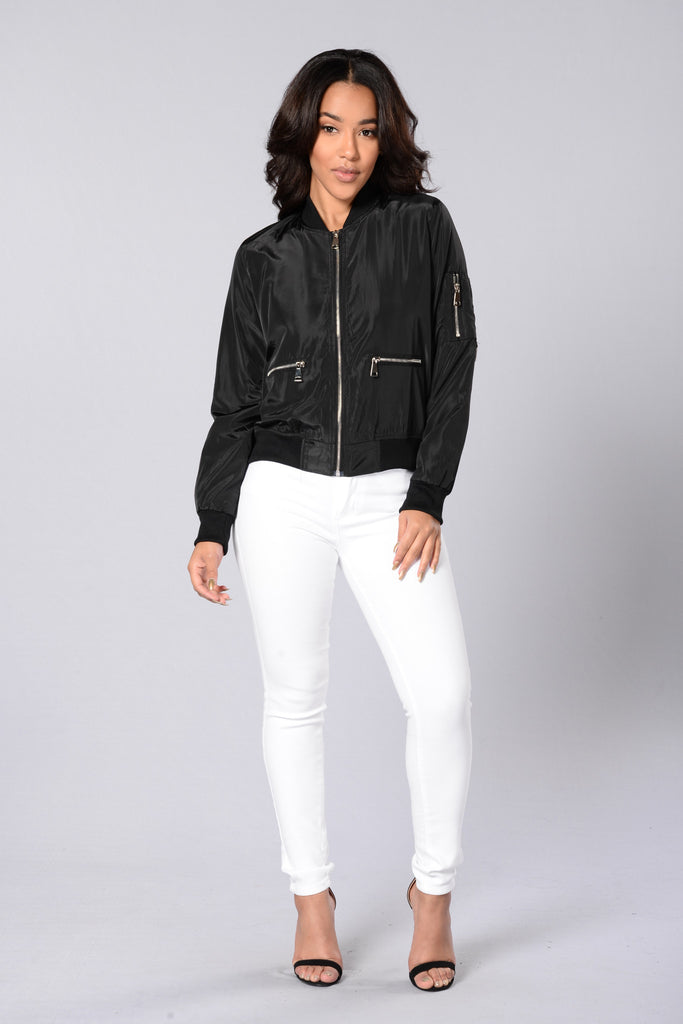 Me Against The World Bomber Jacket - Black