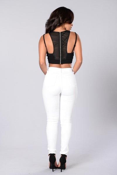 Remix Crop Top - Black