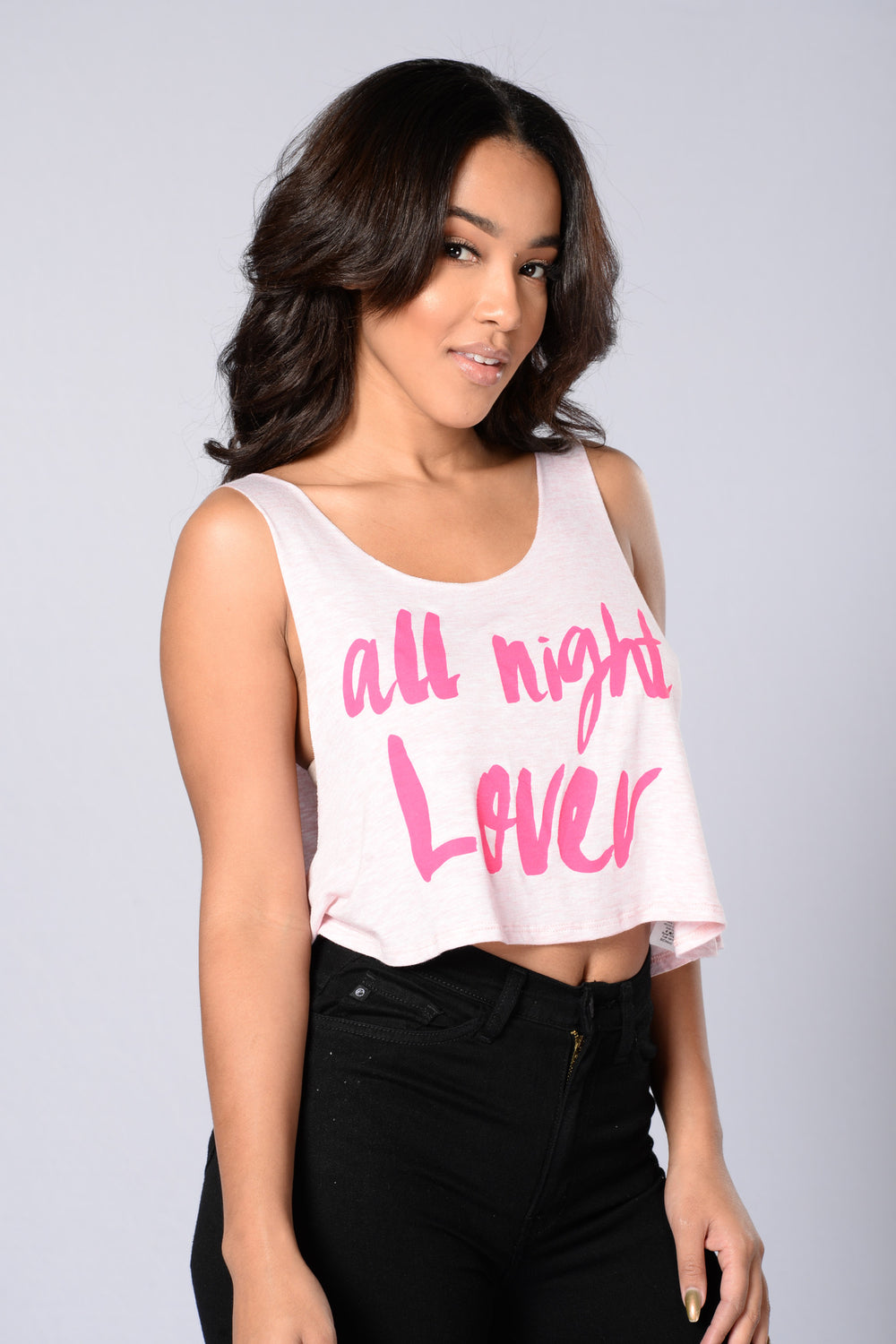 All Night Lover Top - Pink