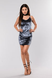 Sweet Like Your Love Dress - Charcoal
